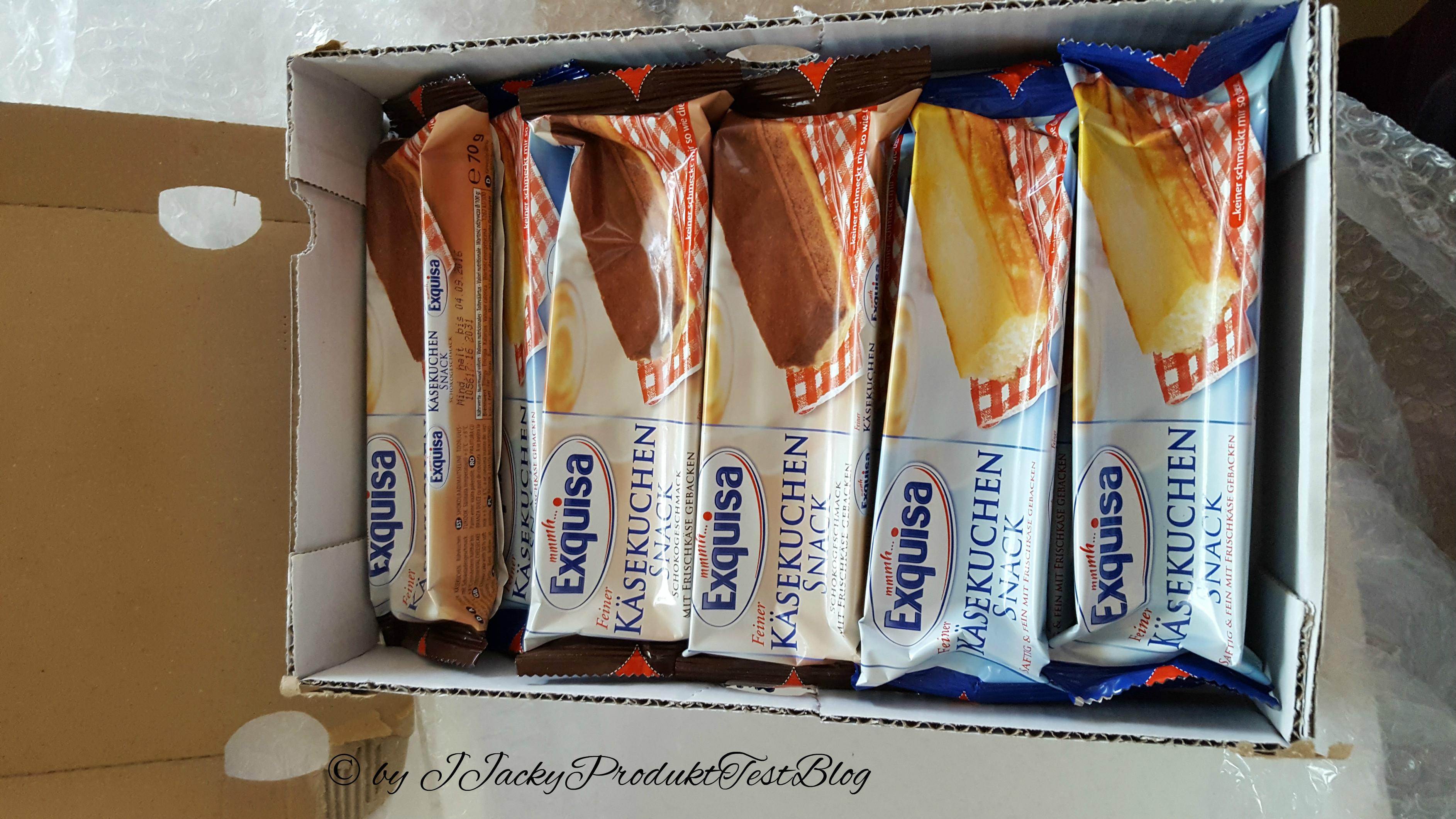 Exquisa Testpaket Käsekuchen Snack Natur und Schoko
