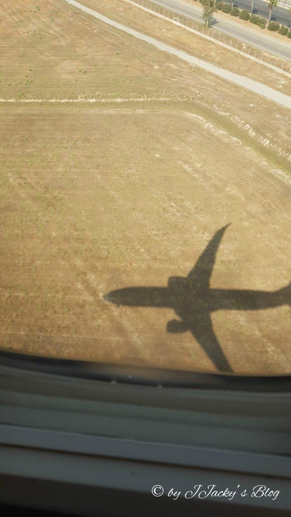 Kurz vor der Landung in Antalya