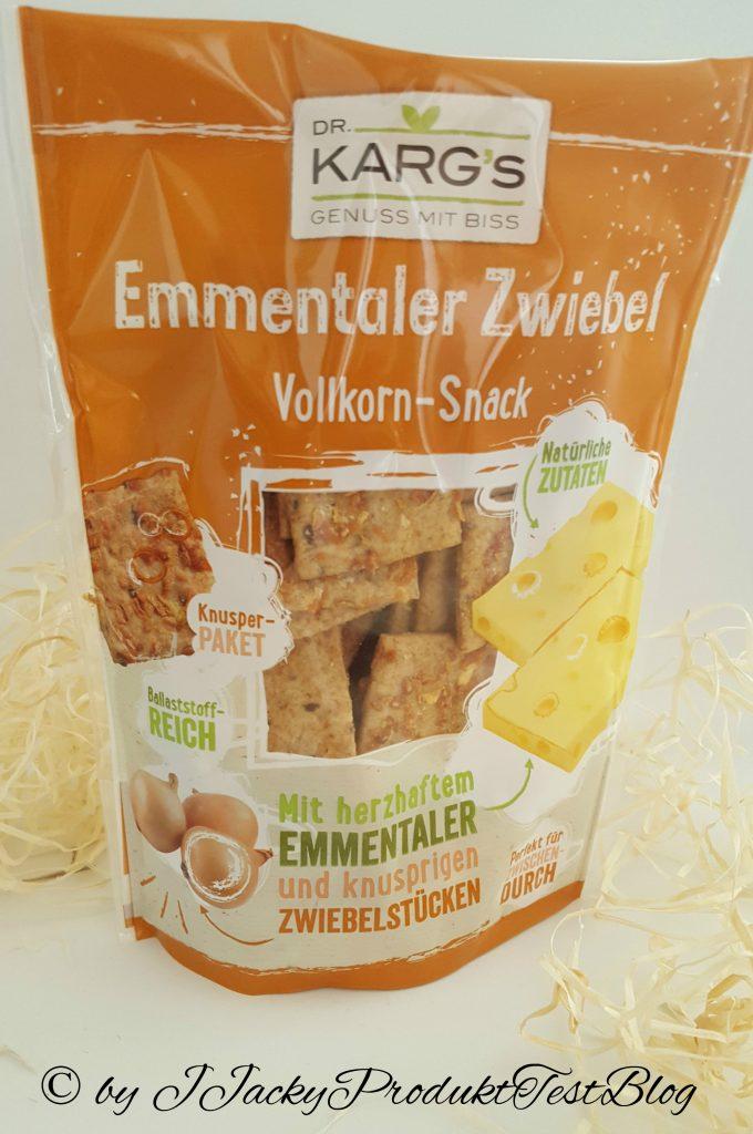 brandnooz box Dr. Karg´s Vollkorn Snack Emmentaler und Zwiebel