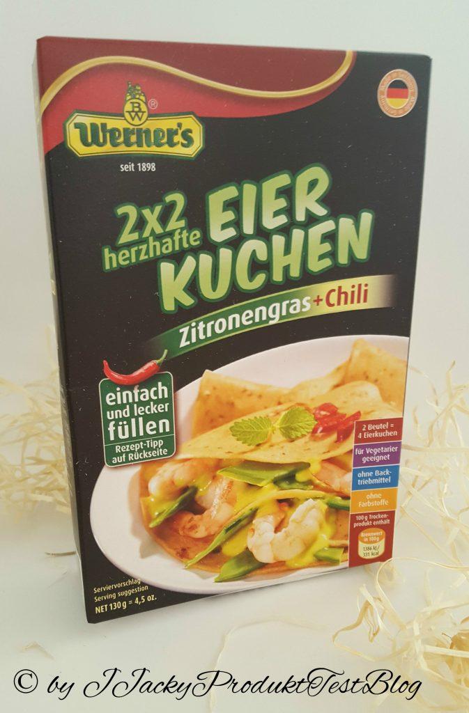 brandnooz box Werners´ herzhafter Eierkuchen Zitronengras und Chili