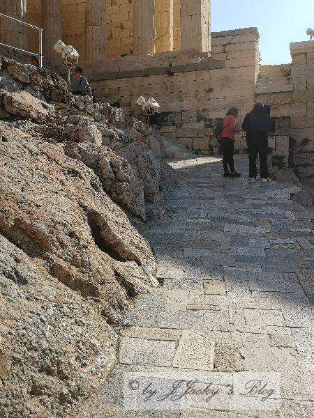 Weg zwischen Agrippa-Monument und Tempel der Nike