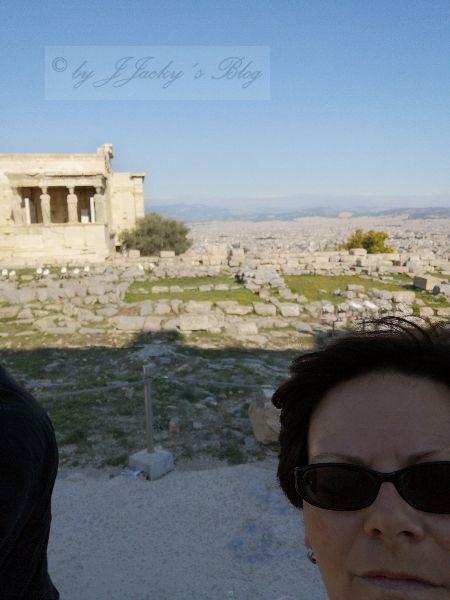 Blick auf den Tempel Erechtheion
